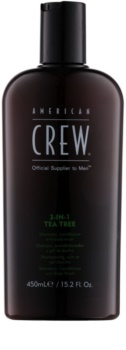 American Crew Tea Tree Shampoo, Conditioner en Douchegel 3in1  voor Mannen