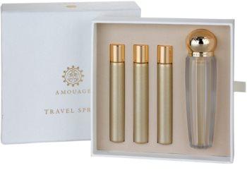 Amouage Gold eau de parfum per donna 4 x 10 ml (1x ricaricabile + 3x ricariche)