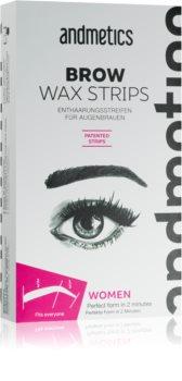 andmetics Wax Strips Depilatory Wax Strips for Eyebrows