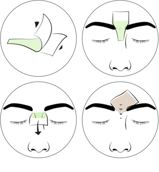 andmetics Wax Strips Depilatory Wax Strips for Eyebrows