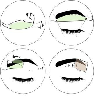 andmetics Brows bandes de cire pour épilation sourcils
