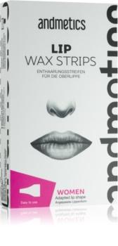 andmetics Lip voskové depilačné pásiky na hornú peru