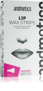andmetics Wax Strips bandes de cire pour épilation lèvre supérieure