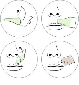 andmetics Lip voskové depilační pásky na horní ret