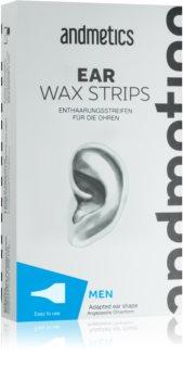 andmetics Wax Strips voskasti depilacijski trakovi za ušesa
