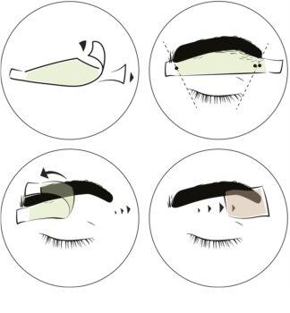 andmetics Brows depilacijske trake s voskom za obrve za muškarce