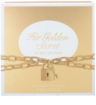Antonio Banderas Her Golden Secret Eau de Toilette voor Vrouwen  80 ml