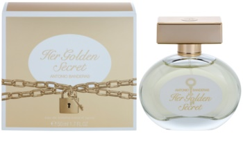 Antonio Banderas Her Golden Secret Eau de Toillete για γυναίκες 50 μλ