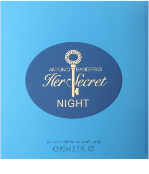 Antonio Banderas Her Secret Night Eau de Toilette voor Vrouwen  80 ml