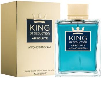 Antonio Banderas King of Seduction Absolute Eau de Toillete για άνδρες 200 μλ