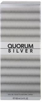 Antonio Puig Quorum Silver eau de toilette per uomo 100 ml
