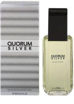 Antonio Puig Quorum Silver eau de toilette férfiaknak 100 ml
