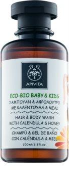 Apivita Eco-Bio Baby & Kids Kinder Reinigingsgel en Shampoo  voor Iedere Dag