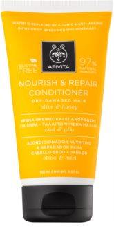 Apivita Holistic Hair Care Olive & Honey tápláló kondícionáló száraz és érzékeny hajra