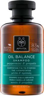 Apivita Holistic Hair Care Pepermint & Propolis champú para cabello graso