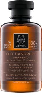 Apivita Holistic Hair Care White Willow & Propolis Anti-Dandruff Shampoo For Oily Hair