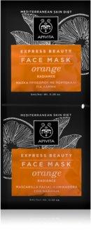 Apivita Express Beauty Orange Revitalizáló és Radiance arcpakolás