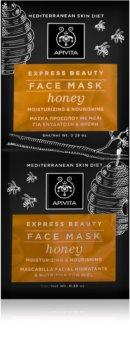 Apivita Express Beauty Honey intensive feuchtigkeitsspendende Maske für das Gesicht
