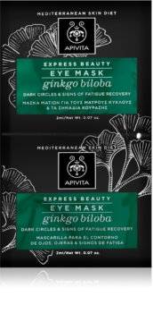 Apivita Express Beauty Ginkgo Biloba De-Puffing Anti Dark Circles Eye Mask