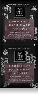 Apivita Express Beauty Propolis глибоко очищаюча маска для жирної шкіри