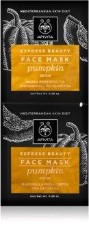 Apivita Express Beauty Pumpkin детоксикаційна маска