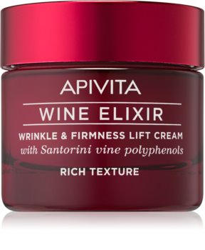 Apivita Wine Elixir Santorini Vine bogata krema proti gubam z učvrstitvenim učinkom