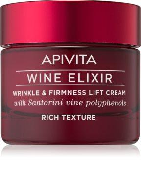 Apivita Wine Elixir Santorini Vine Rich Anti-Aging krém feszesítő hatással
