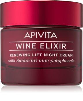 Apivita Wine Elixir Santorini Vine Vernieuwende Nachtcrème met Lifting Effect