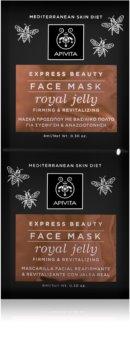 Apivita Express Beauty Royal Jelly revitalisierende Gesichtsmaske mit festigender Wirkung