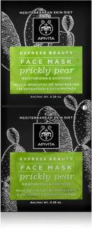 Apivita Express Beauty Prickly Pear Intensely Moisturising Face Mask