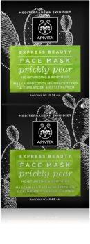 Apivita Express Beauty Prickly Pear intensiv feuchtigkeitsspendende Gesichtsmaske