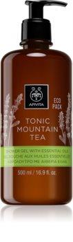 Apivita Tonic Mountain Tea gel douche doux aux huiles essentielles