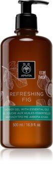 Apivita Refreshing Fig освежаващ душ гел с есенциални масла