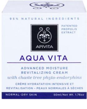 Apivita Aqua Vita intensive feuchtigkeitsspendende und revitalisierende Creme für normale und trockene Haut