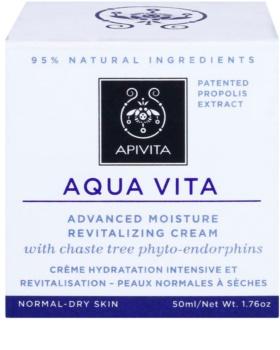Apivita Aqua Vita інтенсивний зволожуючий та відновлюючий крем для нормальної та сухої шкіри