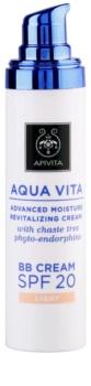 Apivita Aqua Vita зволожуючий та відновлюючий ВВ крем SPF 20
