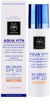 Apivita Aqua Vita feuchtigkeitsspendende und revitalisierende BB Creme SPF 20