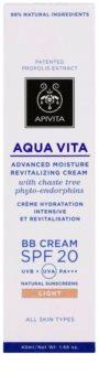 Apivita Aqua Vita Hydraterende en Revitaliserende BB Crème  SPF 20