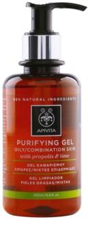 Apivita Cleansing Propolis & Lime gel detergente per pelli grasse e miste