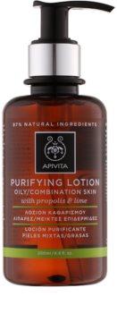 Apivita Cleansing Propolis & Lime lotion tonique purifiante pour peaux grasses et mixtes