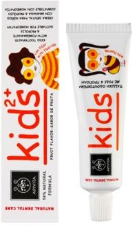 Apivita Natural Dental Care Kids 2+ pasta de dientes para niños
