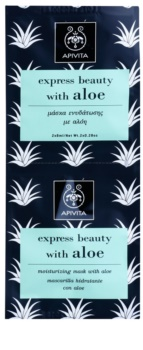 Apivita Express Beauty Aloe mascarilla facial hidratante