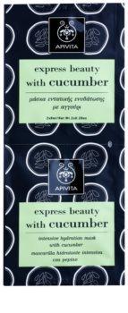 Apivita Express Beauty Cucumber intenzivna vlažilna maska za obraz