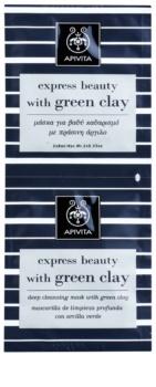 Apivita Express Beauty Green Clay Dieptereinigende Gezichtsmasker