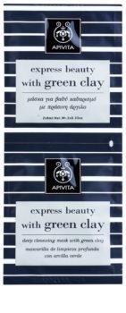 Apivita Express Beauty Green Clay hloubkově čisticí pleťová maska