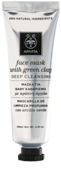 Apivita Express Beauty Green Clay maska za dubinsko čišćenje kože lica