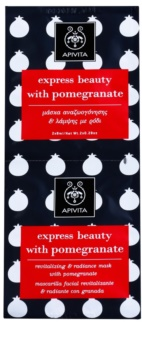 Apivita Express Beauty Pomegranate revitalisierende und aufhellende Gesichtsmaske