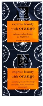 Apivita Express Beauty Orange revitalizačná pleťová maska