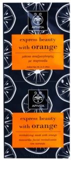 Apivita Express Beauty Orange revitalizirajuća maska za lice