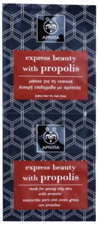 Apivita Express Beauty Propolis Reinigingsmasker  voor Vette Huid
